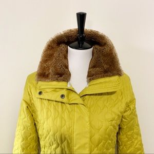 Marmot Quilted Coat With Fur Collar
